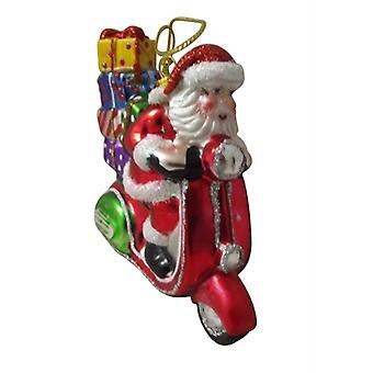 Gisela Graham Santa On A Scooter Collectable Christmas Decoration