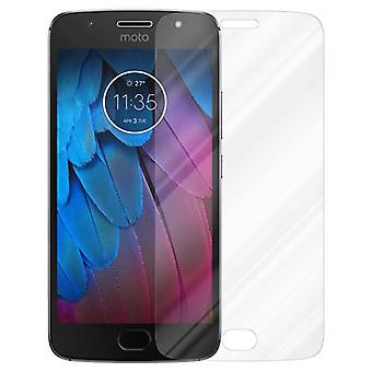 Cadorabo Tank Foil for Motorola MOTO G5S - Protective Film in KRISTALL KLAR - Tempered Display Protective Glass in 9H Hardness with 3D Touch Compatibility