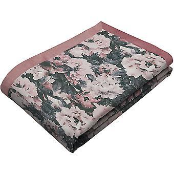 Camille pink velvet throw blanket