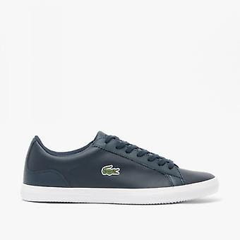 Lacoste Lerond Bl 1 Mens Leather Trainers Navy