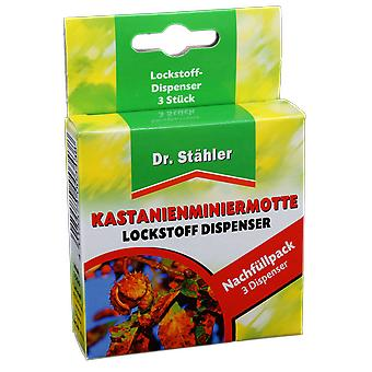 DR. STÄHLER Chestnut Minimoer Lure, 3 Dispenser