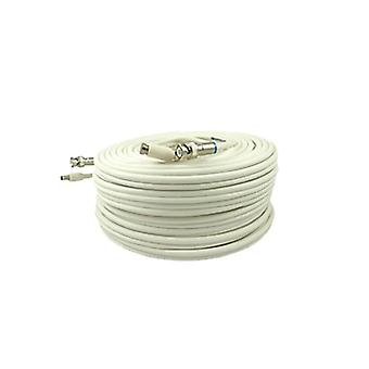 Bolide BP0033-PM60W Vorgefertigtes RG59 CCTV Kabel, 60 Fuß (Weiß)