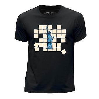 STUFF4 Boys rund hals T-Shirt/gamle mosaik/Liberty/sort
