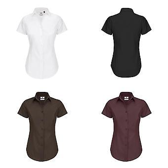 B & C Мужская/Женская черный галстук формальных короткие работы рубашка