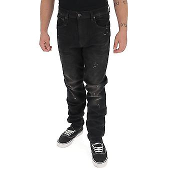 R13 R13m0200430milesblac Men's Black Denim Jeans