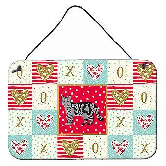 Skotsk raka katt kärlek vägg eller dörr hängande utskrifter