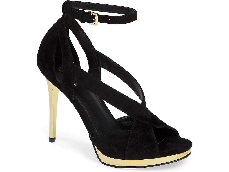 Michael Michael Kors Womens Becky Sandal Leather Peep Toe Special Occasion Sl... Ievdm