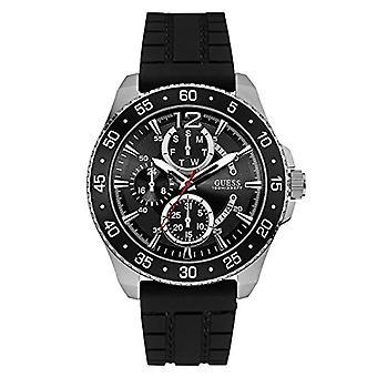 Guess, model W0798G1-men's wrist watch, analog, quartz, silicone wrist watch