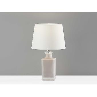 Light Purple Rectangular Bottle Glass Table Lamp