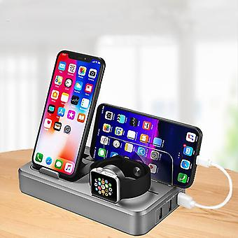 Desktop station 5 ports usb charger qc 3.0 wireless charger fast charging watch charger phone holder