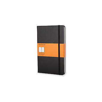 Moleskine classic notebook large ruled with hard cover - color black