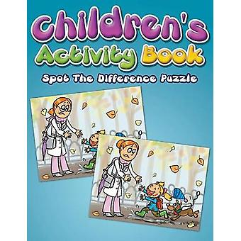 Childrens Activity Book Spot The Difference Puzzle by Delano & Eva