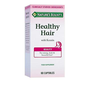 Nature's Bounty Healthy Hair with Keratin Capsules 60 (N55274)
