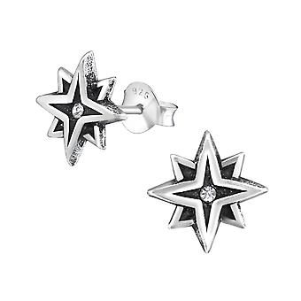 نجمة - 925 الاسترليني الفضة كريستال الأذن ترصيع - W33743x