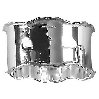Orton West Chippendale Edge Napkin Ring - Silver
