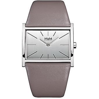 M&M Alemania M11905-842 Línea cuadrada Reloj de señoras
