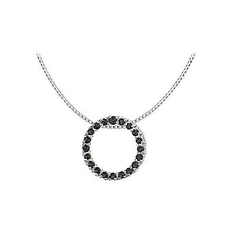 Jacques Lemans - Sterling Silver Necklace with Black Spinel - SE-C121D