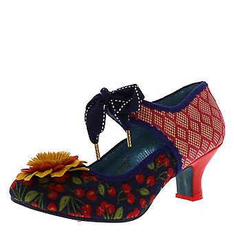 Womens Poetic Licence Golden Daisy Floral Low Heel Lace Up Court Shoe
