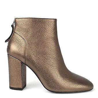 Ash Footwear Joy Stone Leather Heeled Boots