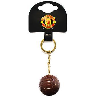 Manchester United FC balón oficial del Vintage llavero