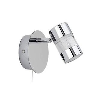 Led 1 Luce Bagno Parete Spotlight Chrome, Bubble Effect Ip44