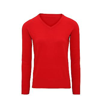 Asquith And Fox Womens/Ladies V-Neck Sweater