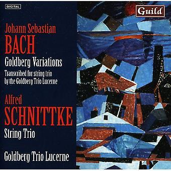 Bach/Schnittke - Bach: Goldberg Variations; Schnittke: String Trio [CD] USA import