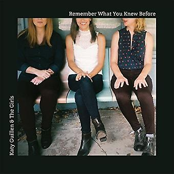 Katy Guilen & Girls - Remember What You Knew Before [CD] USA import