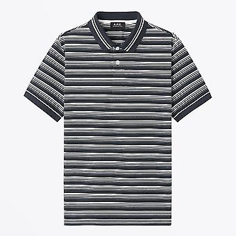 A.P.C.  - Esteban - Striped Polo T-Shirt - Navy/White
