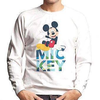 Disney Mickey Mouse Farbe Text Männer's Sweatshirt
