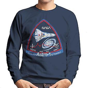 NASA ASTRO 1 Sternwarte STS 35 Mission Abzeichen Distressed Herren Sweatshirt
