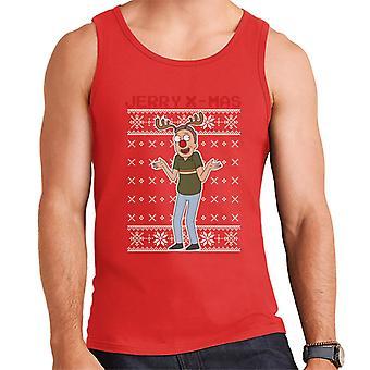 Rick og Morty Christmas Jerry Xmas rensdyr gevirer mænd ' s vest
