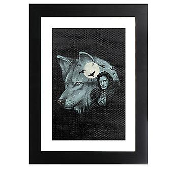 King Of Dire Wolves Game Of Thrones Framed Print