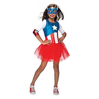 Metallic Captain America. Size : Small