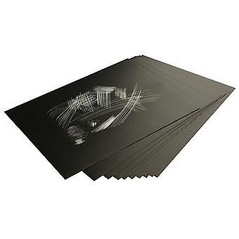 Essdee Holographic Foil Scraperboard 305x229mm 10 Pack