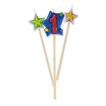 Star Number Candles - No 1