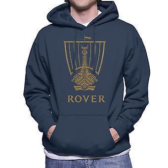 Rover Logo Gold Longship British Motor Heritage Men's Hooded Sweatshirt