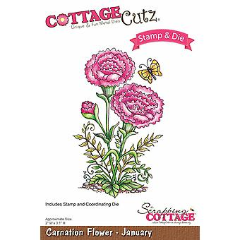 Scrapping Cottage CottageCutz Carnation Flower - January