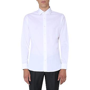 Z Zegna 805100zcsf1g Männer's weiße Baumwolle Shirt