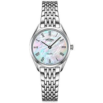 Rotary Ultra Slim Ladies Silver Bracelet LB08010/41 Watch