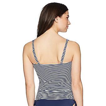 Merkki - Coastal Blue Women's Uimapuvut Classic Center Front-Twist Tankini Top, uusi tummansininen/valkoinen raita, XL (16-18)