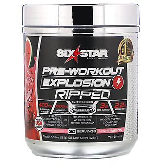 Six Star, Pre-Workout Explosion, Ripped, Watermelon, 5.91 oz (168 g)