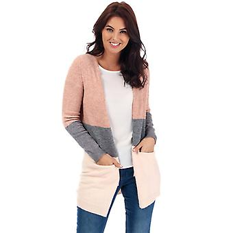 Women's Only Queen Colourblock Cardigan in Pink