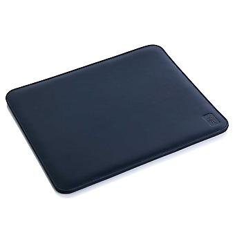 Navy Oxford Leather Mouse Mat