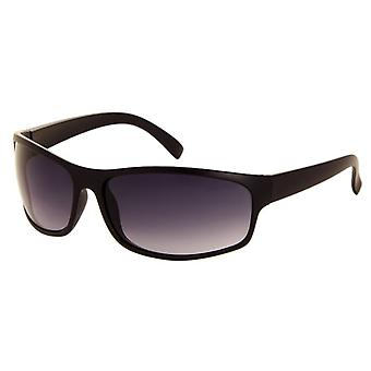 Sunglasses Unisex matt black with grey gradient lens (185 P)