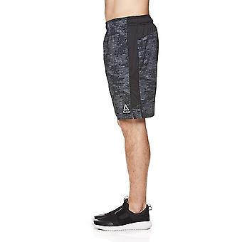 Reebok Men ' s Workout ginástica leve & shorts running w/Elastic drawstring cós & bolsos-TARDIS preto, X-grande
