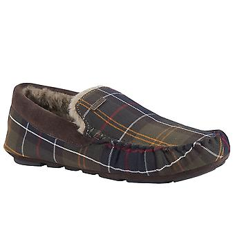 Barbour Monty Mens Full Moccasin Toe Warm Lined Slippers