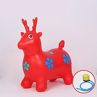 Kid Inflatable Horse Hopper Outdoor Baby, Thicken Riding Jumping Horse Play