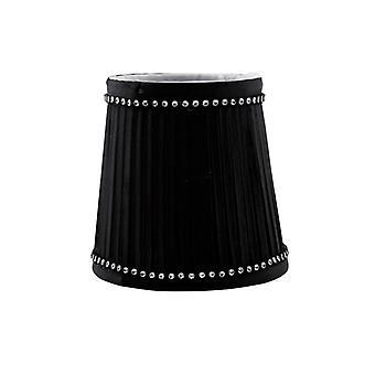 11 Cm Clip-on Fabric Lampshade Black