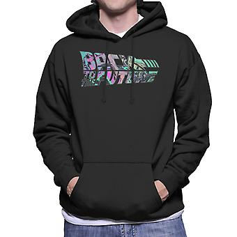 Back to the Future Psychedelic Marble Logo Men's Hooded Sweatshirt